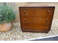 Vintage Chest Of 3 Oak Drawers - Collect in Exeter