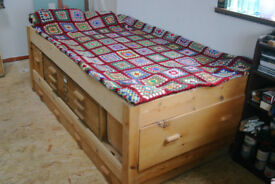 Artist's bunk bed with plan chest and storage