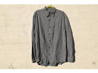 "Next X-Large Dark Green with White Swirls Long-Sleeved Casual Shirt C53"" & N17"""
