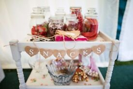 Snacks and drinks bunting (perfect for a rustic wedding)