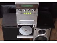 PANNASONIC CD/RADIO/CASSETTE/AUX IN/REMOTE 88W PLAY IPOD PHONE