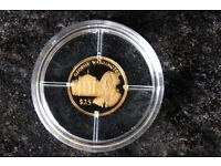 World's Smallest Coin, Gold