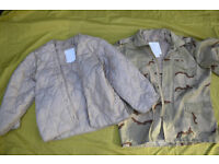 M65 Field Jacket in Desert Camo with Quilted Cold Weather Liner