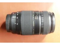 Tamron 70-300 mm zoom lens. Faulty- For parts.
