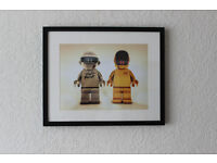 Lego Daft Punk Original 3D Digital Art Picture Limited Print Framed