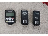 Phottix Odin wireless flash triggers for Canon cameras (2 x receiver, 1 x Transmitter)