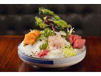 Passionate sushi chef