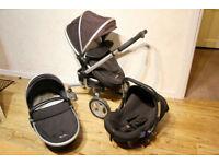 Silver Cross Surf Travel System (Pram / Stroller + Carrycot + Car Seat)