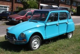 Citroen Dyane 6. 1974/M, tax and MOT exempt. LHD. Over £6000 spent, with many new parts. Drives well