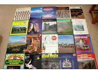 40 x MILITARY AND BRASS BAND LP'S 1970/80's JOB LOT (ALL UNTESTED)