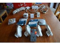 Electrical job lot: extension leads, timers, power circuit breaker, etc.