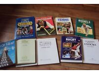 9 Guinness Books of Facts-Rugby-Tennis-Soccer-Bowls-Snooker-Music
