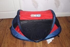 Travel Bed, also use to protect your child from the sun, beach camping etc. V.G.C. £10