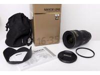 Nikon 16-35mm f/4.0 AF-S VR IF ED Lens