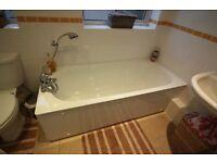 White Pressed Steel Bath