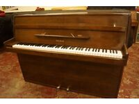 Welmar modern walnut upright piano. Tuned with uk delivery available