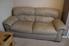 Two 3 Seater Leather Sofas