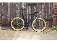 GOKU CYCLES Aluminium Alloy Frame Single speed road TRACK bike fixed gear racing bike 3sd