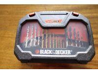 Black + Decker A7183 Titanium Drilling and Screwdriver Bit Accessory Set (30 Pieces) UNUSED