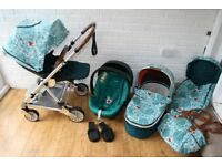 Mamas and Papas Urbo 2 Donna Wilson full pram travel system 3 in 1 ***can post**