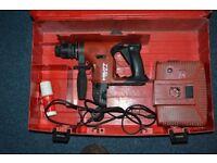 HILTI TE 6-A SDS PLUS 36v. CORDLESS ROTARY HAMMER DRILL.