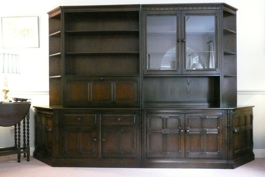 ERCOL WALL UNITS FOR LOUNGE OR DINING ROOM