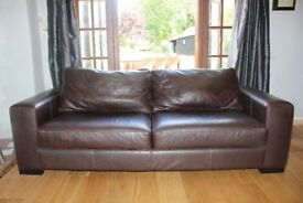 Stylish long Leather sofa ( with a 2nd available to buy as well if req)