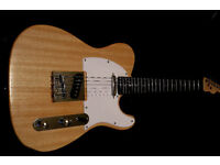 TELECASTER Electric Guitar NATURAL FINISH fender strings great player