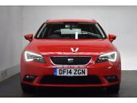 SEAT LEON 1.6 TDI SE TECHNOLOGY [NAV] DSG 5d AUTO 105 BHP (red) 2014