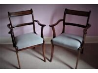 Pair of mahogany framed Carver dining chairs