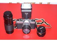 Pentax K1000 Film SLR Camera & Accessories