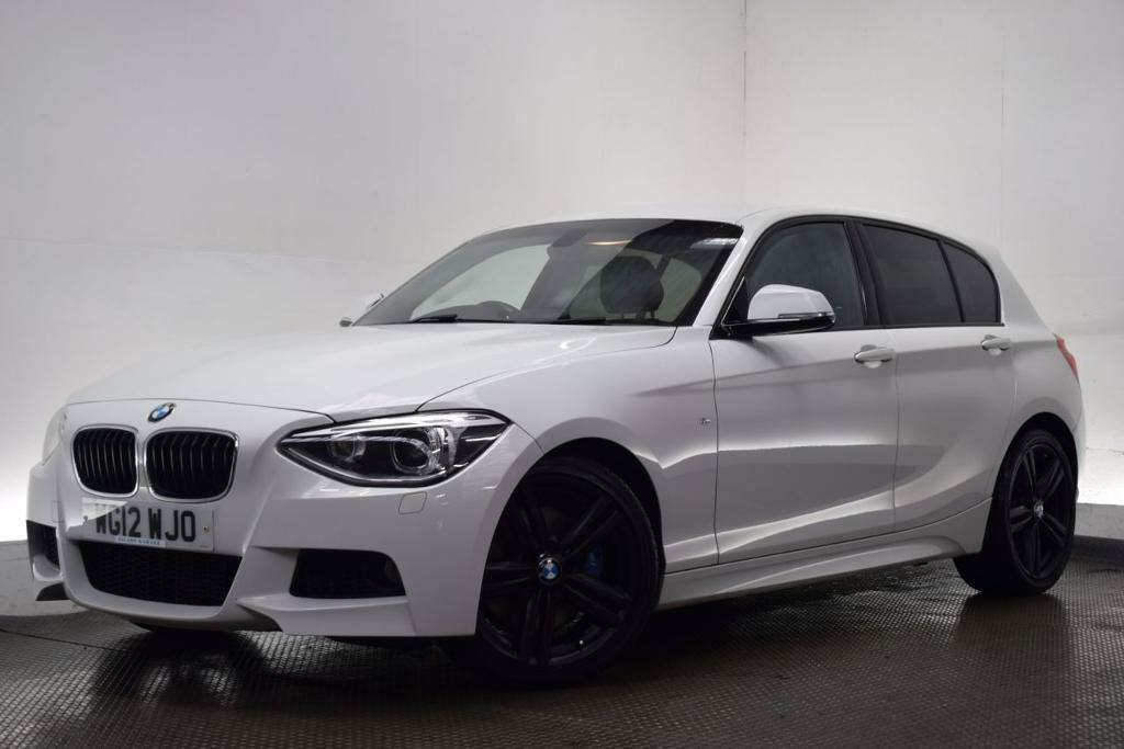 bmw 1 series 2 0 125d m sport 5d 215 bhp white 2012 in. Black Bedroom Furniture Sets. Home Design Ideas