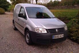 VW Caddy Van (Silver) *No VAT* 1.9 tdi, low mileage, 2010.