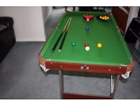 "Pot Black Snooker / Pool Table 54"" x 30"""