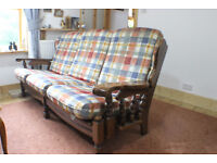 SOFAS 3 SEATER & TWO SEATER PLUS MATCHING FOOTSTOOL. VERY GOOD CONDITION.