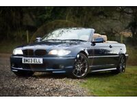 IMMACULATE 2004 BMW 330 CI SPORT BLUE MANUAL 6 SPEED 3.0 CONVERTIBLE
