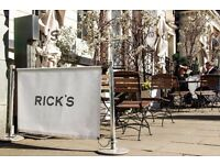 Rick's is looking for Bartenders and Waiting staff!