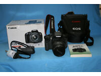 canon eos 650d efs 18-55 image stabilized boxed