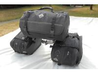 Motorcycle Luggage Panniers and Roll Bag