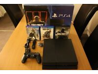Sony PlayStation 4 500GB Jet Black Console - Mint Condition(John Lewis Warranty)
