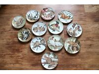 porcelain wall plates collection THE FOREST YEAR