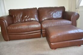 Leather Sofa - High quality - Still appears fairly new, as rarely used (cost over £2,000 when new)
