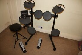 Yamaha DTX400K Electronic Drum Kit with Manual, Headphones, Stool + Sticks