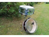CHROME C.B. SNARE AND STAND + SPARE