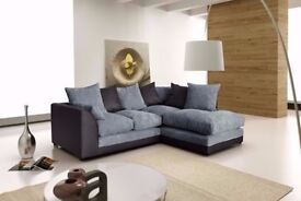 🚚🚛 Double Padded Corner🚚🚛New Byron Jumbo Cord or 3 and 2 sofa in Black, Grey, Brown and mink