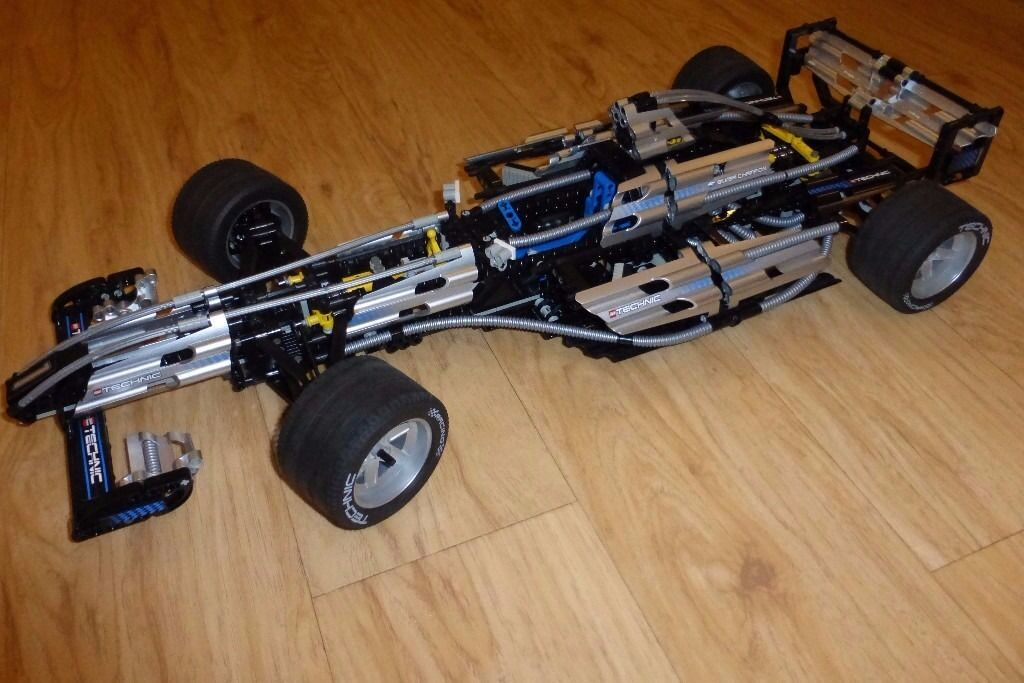 Lego Technic F1 Racing Car 8458 Silver Champion Complete With Box