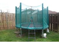 Trampoline - 8 ft with safety enclosure and ladder