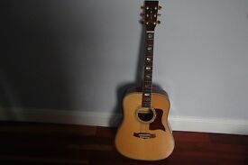 Tanglewood TW 1000 solid wood acoustic guitar with spruce top and grover tuners, in great condition