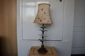 Attractive bronze and glass light