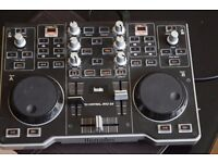 HERCULES 2 CHANNELS DJ CONTROL MIXER MP3 E2 USB CABLE INCLUDED